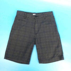 Ezekiel Men's 30 Brown & Black Plaid Shorts